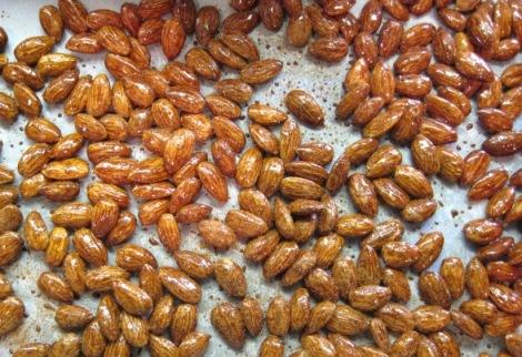 Almonds pre-baking