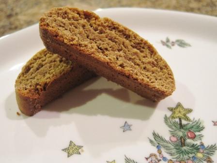 Gingerbread Chai Biscotti