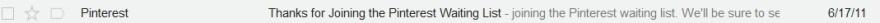 Pinterest wait list